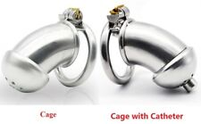Male Chastity 60mm Penis Cage Device Stainless Steel CBT Catheter Dilator Plug