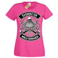 Badminton T-Shirt game World Tournament T-Shirt Womens Ladies