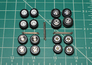 Greenlight Dually Farm Pickup Truck 4x4 1/64 Wheels Rubber Tires Custom Parts
