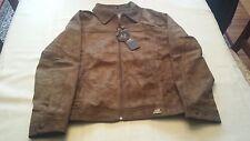 BNWT Men's A/E Emporio Collezioni Brown Suede Jacket Size XL Italy