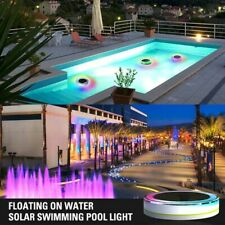 Underwater Led RGB Light Solar Powered Remote Control Outdoor Pool Pond Party