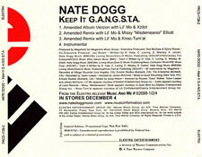 Nate Dogg: Keep It G.A.N.G.S.T.A. PROMO MUSIC AUDIO CD Amended Remix Lil' Mo 4tk