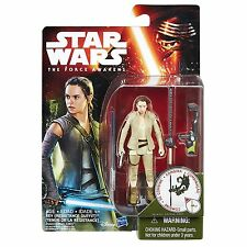 "STAR WARS The Force Awakens Rey (Resistance Outfit) 3.75"" Action Figure MOC NEW"