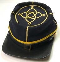 CIVIL WAR CONFEDERATE CS LIEUTENANT CAVALRY OFFICER KEPI FORAGE CAP HAT-LARGE