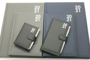 2021 QUALITY PADDED POCKET, SLIMLINE, A5 OR A4 DAY A PAGE OR WEEK TO VIEW DIARY.
