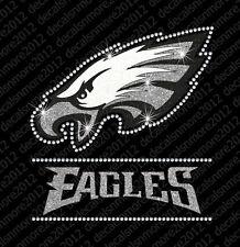 NFL:  Philadelphia Eagles Bling - Iron-on Glitter Vinyl & Rhinestone Transfer