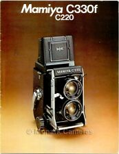 Mamiya C330f  & C220 TLR Camera & Lens Brochure, More Catalogues & Guides Listed