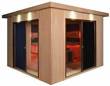 Sauna Sauna komplett Gartensauna Saunahaus GS4064 330 x 330 cm - Superpreis !