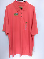 Foundry Supply Quick-Dri Mens 2XL Hot Coral Short Sleeve Active/Golf Polo Shirt