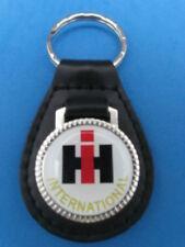 IHC IH INTERNATIONAL HARVESTER TRUCKS LEATHER KEYCHAIN KEY CHAIN RING FOB #186