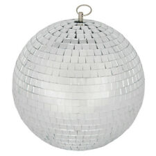 Mirrorball Plain Glass 30cm Dia Disco DJ Party Glitter Mirror Ball QTX Mb-30 151