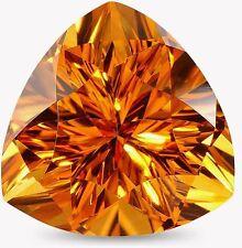 12mm Trilliant-faceta natural brasileño de Oro Citrino Piedras preciosas (App £ 98)