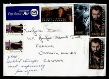 DR WHO NEW ZEALAND AIRMAIL TO CANADA THE HOBBIT COMBO  g40150