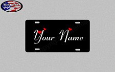 PERSONALIZED CUSTOM ALUMINUM LICENSE PLATE CAR TAG YOUR NAME 2 COLOR