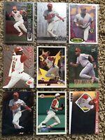 Barry Larkin Baseball Card Lot 13 Different Cards Cincinnati Reds Ball Of Fame