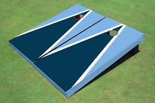 Navy And Unc Blue Matching Triangle Custom Cornhole Board