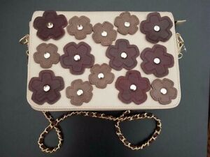 Ex Display-Gorgeous Ladies GENUINE Leather Handbag Floral (041) -Crash Discount
