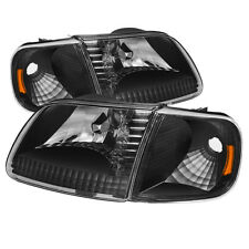 Ford 97-03 F150 / Expedition Black Housing Replacment Corner + Headlights Set