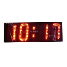 "6"" Large Outdoor/Semi-Outdooor LED Race Clock Countdown/Up In Minutes Seconds"