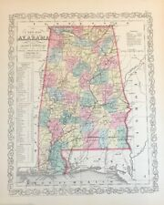 1858 Map Of Alabama Published By DeSilver