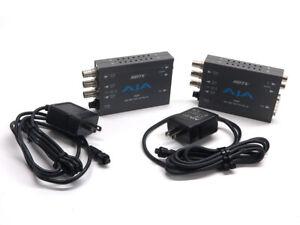 Pair - AJA HDP HD-SDI to DVI-D 1920x1200 or HDMI video converter w/ RCA audio