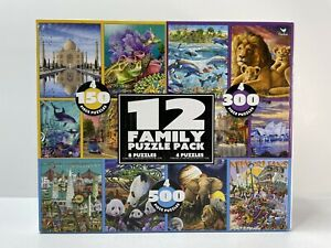 Cardinal 12 family puzzle pack 150-500 pieces each- Individually Separated