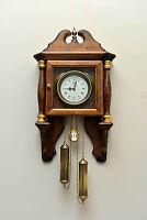 Orologio da Parete In Legno a Pendolo da Muro Classico Artigianale Antico 3369