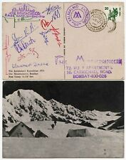 SIGNED MOUNTAINEERING INDIA KALABALAND EXPED. PPC ALL CLIMBERS SIGNATURES 1979