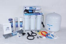 5 Stufige Umkehrosmose Osmose Osmoseanlage + Boosterpumpe RO50BP -00 50G NSF