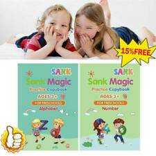 Magic Writing Practice Copybook For Age3+ Preschool_Drawing/Number/Alphabet/Math
