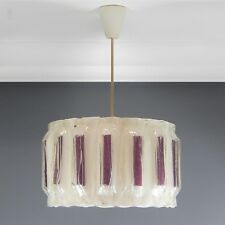 Large Moulded Acylic Plastic Ribbon Light Fitting Mid Century Vintage Space Age.