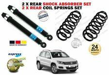 FOR VW TIGUAN + 4MOTION 2007-> 2X REAR SHOCK ABSORBER SET + 2X COIL SPRINGS SET