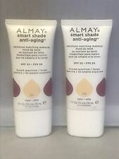 Almay Smart Shade Anti-Aging SPF 20 Makeup  ~ 100 Light ( Pack Of 2)