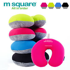 M SQUARE Travel Accessory  soft headrest neck pillows Black