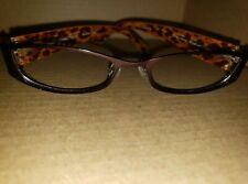 Carmen Marc Valvo Paloma Eyeglasses Frames 53 18-135MM Brown Leopard