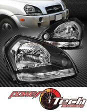 New Pair Set Headlight Headlamp Lens Housing for 05-09 Hyundai Tucson