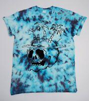 Palm Skull Tie Dye T Shirt UNISEX Festival Grunge Emo Hipster Summer Trippy Lit