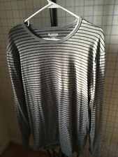 OLD NAVY Classic Long Sleeve Shirt Stripes Gray Men's L