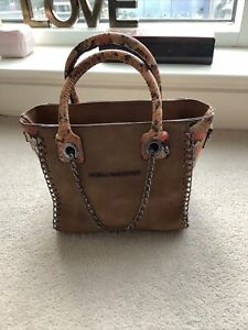 Stella Mccartney Small Tote Snake Skin Effect Handbag
