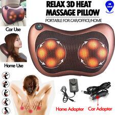 8 Drives Shiatsu Massager Body Massage Pillow Cushion Neck Knead Back Home Car A