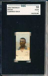 1950 Tinghalls SGC 10 = PSA 1 BISODE FLAMINGO Back BRAZIL  VHTF Soccer card!