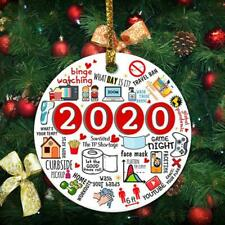 2020🎄The Year Of Global Pandemic Funny Quarantine Circle Christmas-Ornament HOT