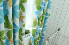 HIBISCUS: TOP QUALITY BLOCKOUT BLACKOUT Eyelet Curtain -  GREEN