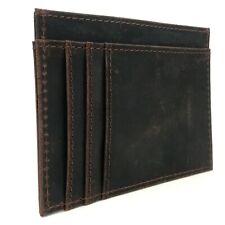 NEW UTREERS Brown Wallet Slim Credit Card Holder Genuine Leather Men B322231