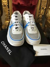 d3abdfa868a IMPOSSIBLE TO GET!! CHANEL MENS SNEAKERS TRAINERS! BLUE WHITE FASHION SHOES