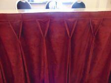 Raspberry Table skirting Diamond Pleat 5.30 m x 75 cm Drop