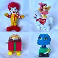 Ronald McDonald PVC Figure Lot - Blue Fry Gal Guy, Birdie on Horse, Wendy's Toy