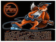 FOX THEATER Boulder, Colorado 25 Year Anniversary 18x24 Concert /Gig Poster 2017
