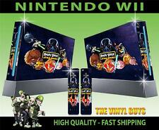 NINTENDO WII CONSOLE STICKER ANGRY BIRDS STAR WARS SKIN & 2 CONTROLLER PAD SKINS