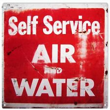 "Self Service Air And Water Gas Station 12' x 12"" Service Sign"